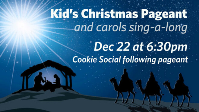 6:30pm Messiah Kids' Christmas Pageant
