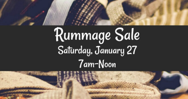7:00am Men's Rummage Sale
