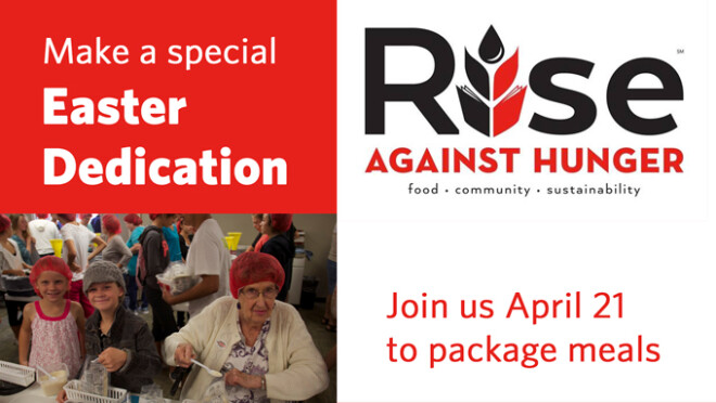 9am Rise Against Hunger Meal Packing