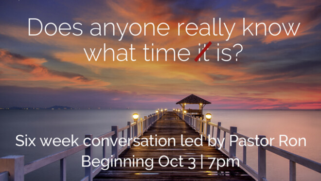 7pm Conversation with Pastor Ron