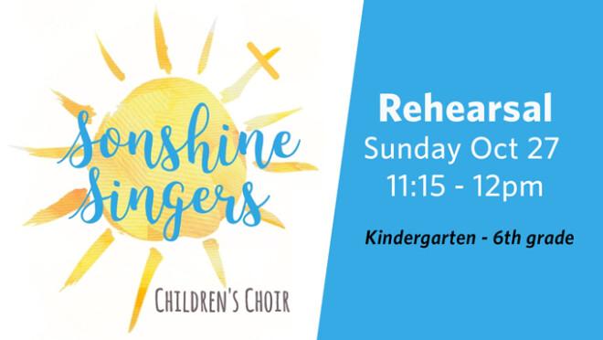 11:15am Sonshine Singers Choir