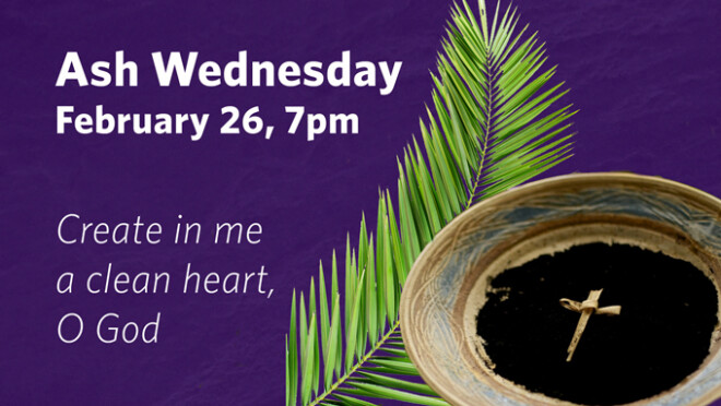 7pm Ash Wednesday Service