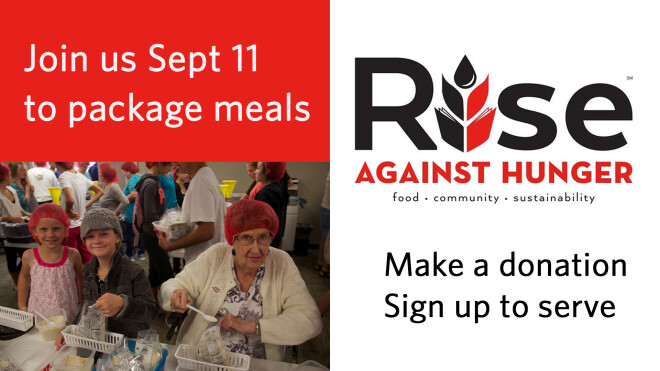 2pm-Rise Against Hunger Meal Packing on 9/11