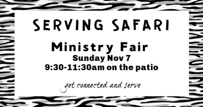 9:30am Ministry Fair